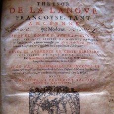 Trésor de Nicot, 1606 © Collection personnelle Jean Pruvost