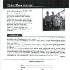 Souscription... livre : Noir et blanc de peau