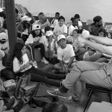 L'auteur Thomas Miauthon à la manoeuvre pour captiver ses jeunes(...) © Arnaud Galy - Agora francophone