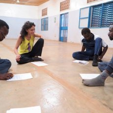 Lecture publique - Espace Culturel Gambidi, Ouagadougou, Burkina Faso -(...) © CRAC International