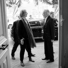 Françoise Nyssen, ministre de la Culture accueilli par le président du(...)