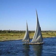 Felouque sur le Nil entre Edfu et Kom Ombo