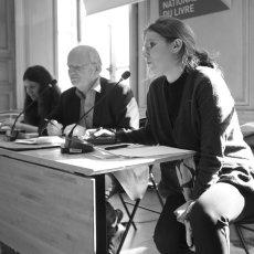 Julie Bierling, aux côtés du président de l'AILF, Philippe Goffe -(...) © Arnaud Galy - Agora francophone